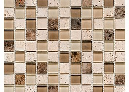 Glass and Stone Mix Beige